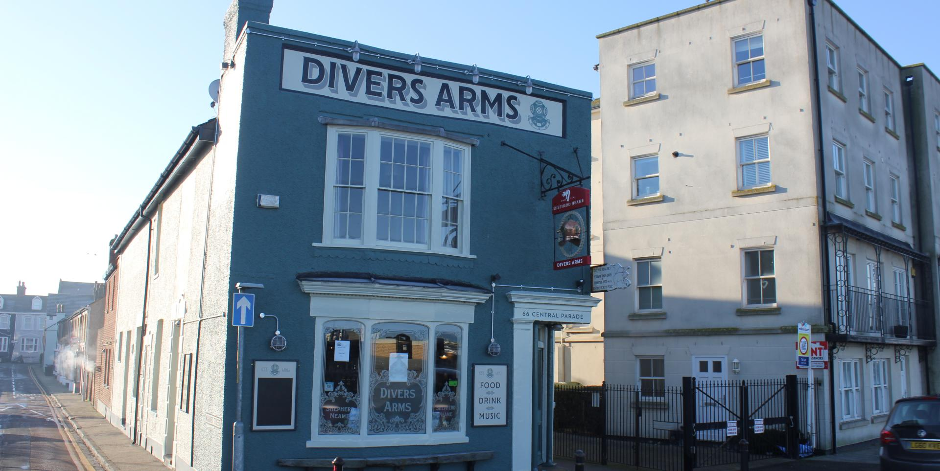 Divers Arms, Herne Bay, Exterior